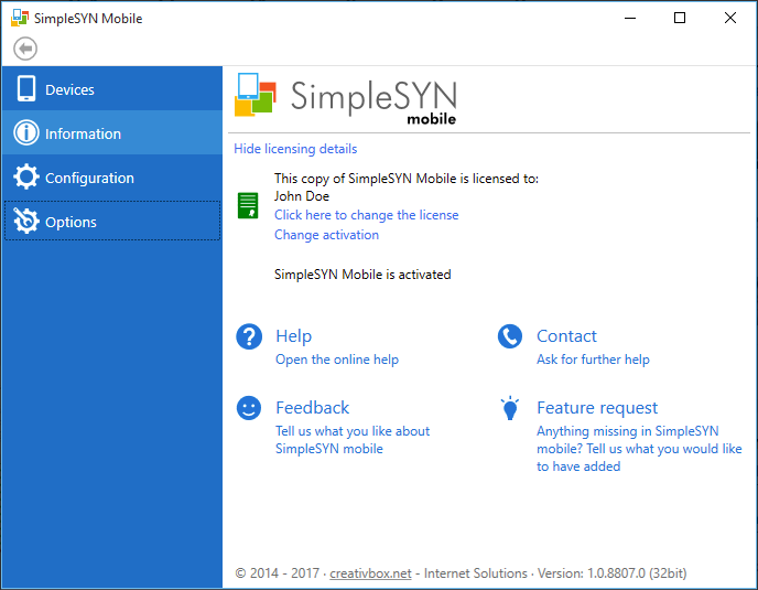 SimpleSYN mobile -  Outlook-Sync mit dem iPhone oder Android-Gerät